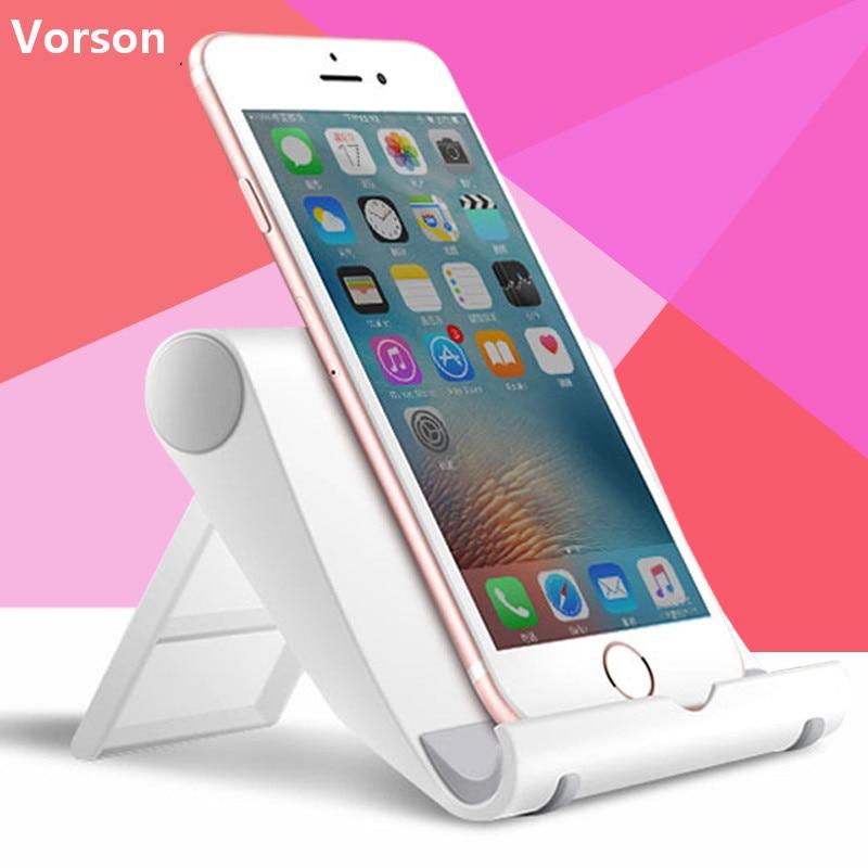 Vorson Универсальный гибкий настольная подставка, держатель телефона для iPad iPhone 7 6 ...