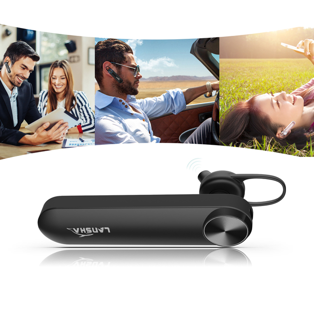 LANSHA Hands Free Bluetooth V4.1 In-ear Headset
