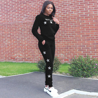 Autumn Women Set Tracksuit Long Sleeve Stitching Sweatshirts Casual Suit Winter Clothes Two Piece Set Tops Pants Sporting Female