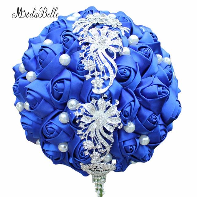 Modabelle Artificial Bridal Bouquets Royal Blue Wedding Bouquets ...