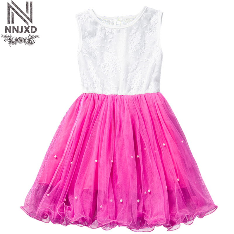 Baby Girl Lace Tulle Dress Summer Style Floral Cotton Princess Frock Girls Clothes Kids Fancy One Piece Daily Dress for Children
