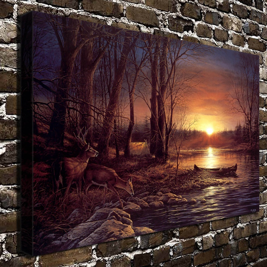 a780 terry redlin morning glow animal scenery .hd wall pictures