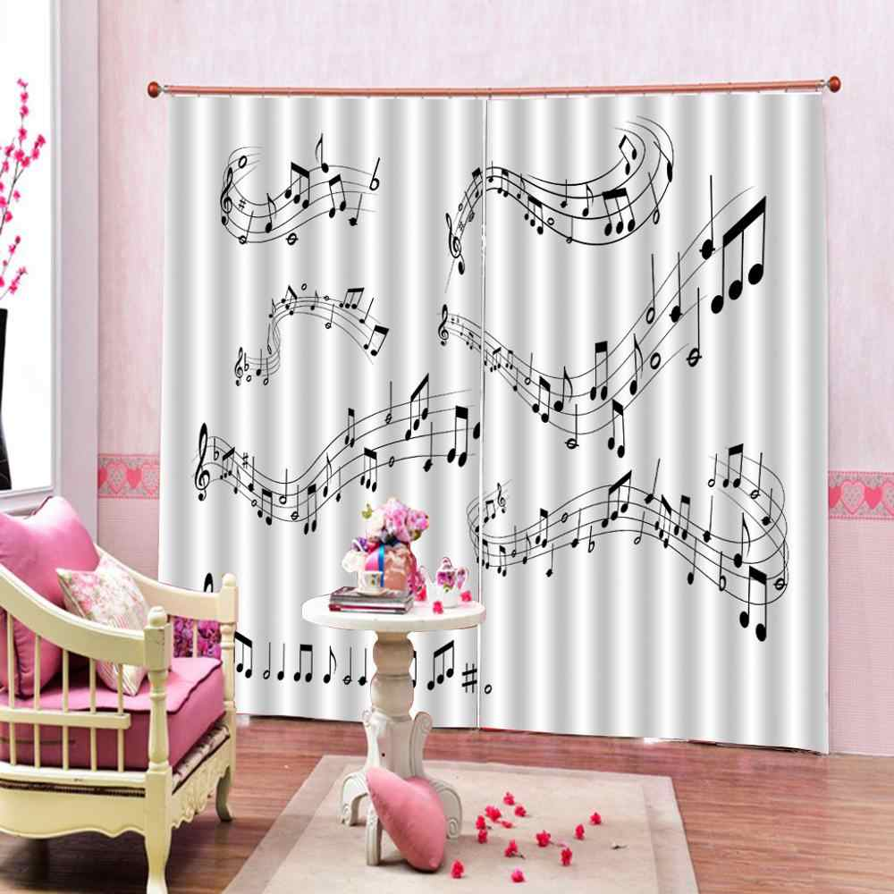 window curtains for living room bedroom music curtains for girl living room bedroom office hotel home