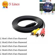 DH 3 RCA AV Cable 5 Clines suppot Cccams Digital Satellite TV Receiver DVB-S/S2 FTA Set Top Box