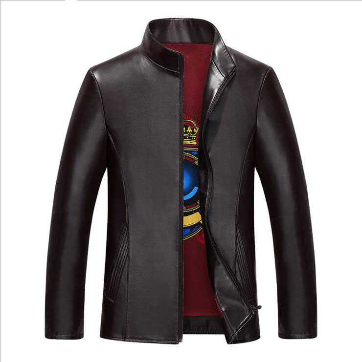 New Faux Leather Jackets Men's Clothes winter Coats Men Outwears Brand Clothing Business Men's Black And Brown Jacket 3XL