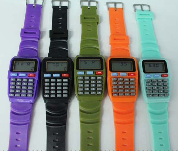 Free shippping Fashion  Watch,student's watch,electronic watch with calculator, novelty gift christmas gift