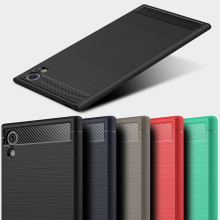 Ojeleye Case For Sony Xperia L1 Case Silicon Cover For Sony L2 XA1 XA2 XA3 Plus Ultra XZ2 XZ1 XZ3 Compact Carbon Fiber Cover case for sony xperia l1 x xa ultra case wallet leather cover for sony xperia xz xr xz1 xz premium compact business style case