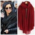 Moda de nueva Marca año algodón de seda del hielo mujeres Bufanda caliente suave de La Borla Mantón de la Bufanda de la bufanda de Los Amantes de regalo de Navidad