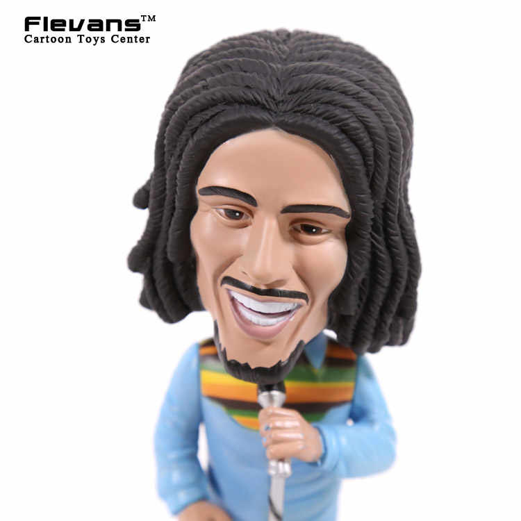 Rock Legends Reggae Rasta Bob Marley Vinyl Action Figure Collection Toy  Bobble Head Doll with Retail Box 19cm