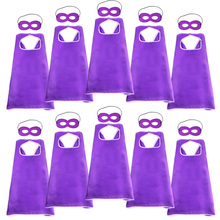10 шт. специальные 70*70 см однослойные фиолетовые накидки и маски Торжества дети Пасхальный костюм на вечеринку костюм для детей игрушки подарки