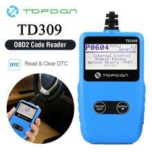 TOPDON TD309 Read Erase Codes OBD2 Scanner Code Reader View Freeze Frame Data EOBD Automotive OBDII Car Diagnostic Tool MS309