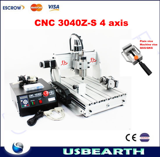 4 Axis CNC Machine 3040Z-S Engraving Machine CNC Drilling Milling Cutting Machine for wood, metal, aluminum etc cnc 5axis a aixs rotary axis t chuck type for cnc router cnc milling machine best quality