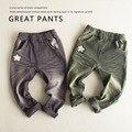 2-7T Fashion boys pants autumn trousers jeans New 2016 Geometric patchwork star girls denim pants trousers for girls kids 2-7T
