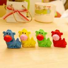1 pcs /bag cute Creative cartoon kawaii camel rubber eraser creative stationery office school supplies papelaria free delivery