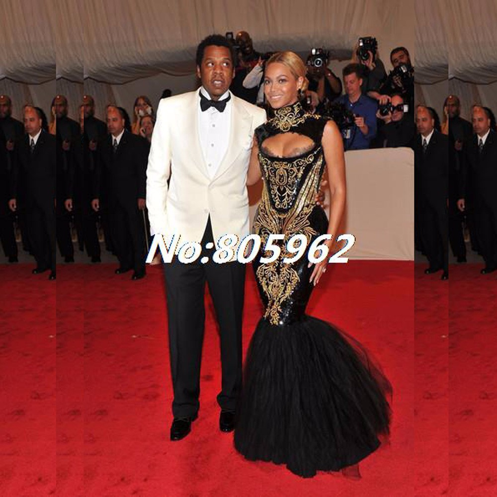 Custom-made-2014-Hot-Sexy-Beyonce-MET-Gala-Black-And-Gold-Embroidery-Beaded-Mermaid-Celebrity-Dresses (2)