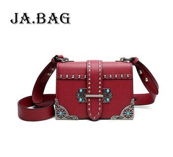Ladies Metal Frame Fashion Messenger Bags,Luxury Handbags Women Bags Designer Lock Shoulder Bags,Female Leather Crossbody Bag