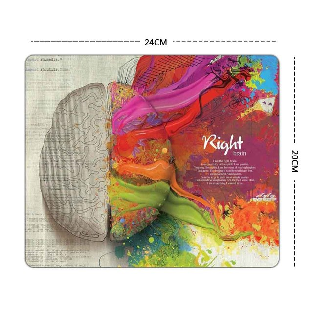 Unique Left and Right Brain Pattern Gaming Mouse Pad 240*200*1.5mm 2016 New Rubber Huge Extra S Size Gaming Mouse Pad