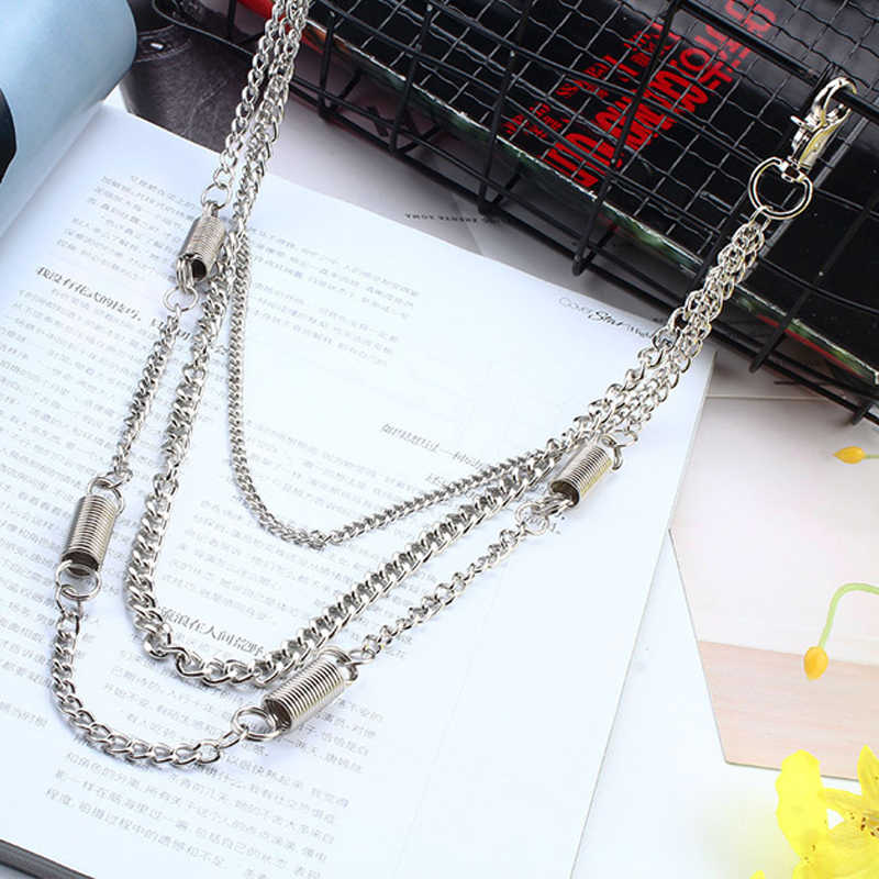 Long Biker Jean Key Wallet Chains Silver Rock Punk Hip-pop Hipster Metal Keychain Pants Chain Fashion Men Jewelry Gift J221