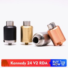 Volcanee Kennedy 24 V2 RDA Atomizer 510 Thread 4 Direct Bottom Airflow Control  Replaceable Coil Tank for E Cigarettes Mod