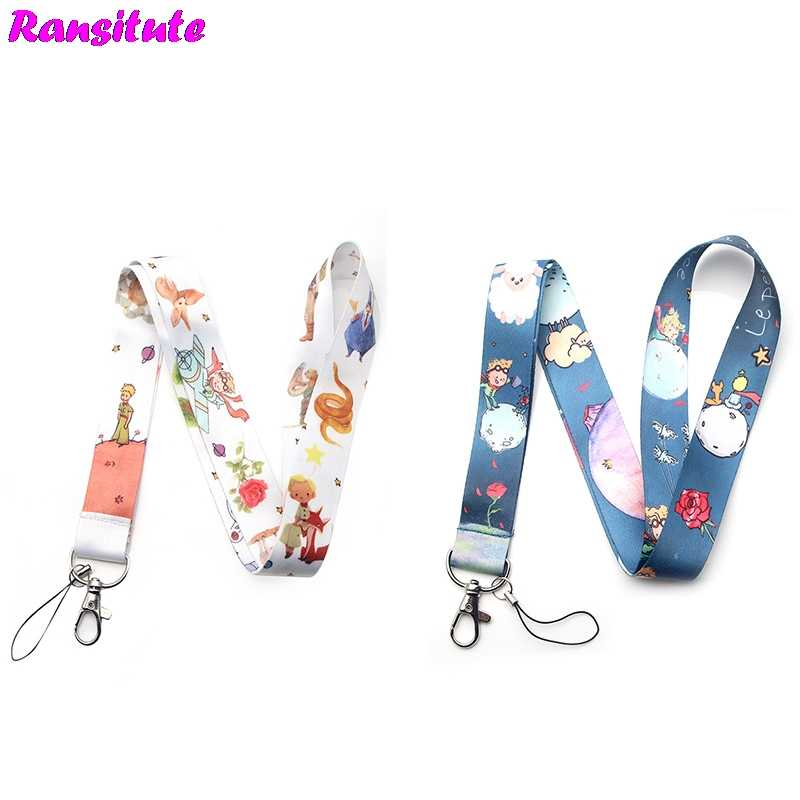 R249 Le Petit Prince small fresh neckband lanyard key ID card gym mobile phone with USB badge clip DIY lanyard lasso