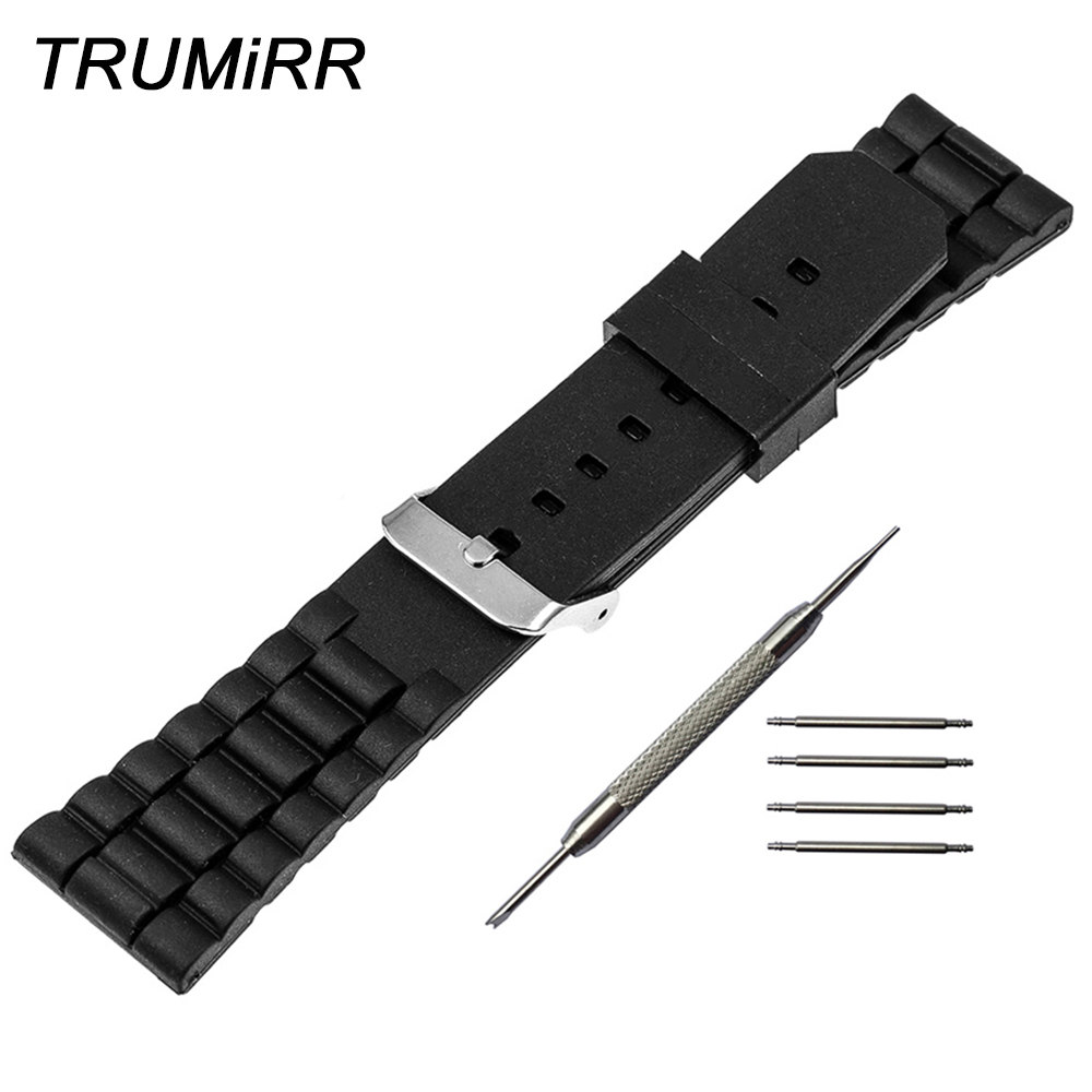 24mm Silicone Rubber Watch Band for Sony Smartwatch 2 SW2 Replacement Stainless Steel Buckle Strap Bracelet with Tool Spring Bar 24mm silicone rubber watch band for sony smartwatch 2 sw2 replacement watchband strap bracelet with stainless steel clasp buckle