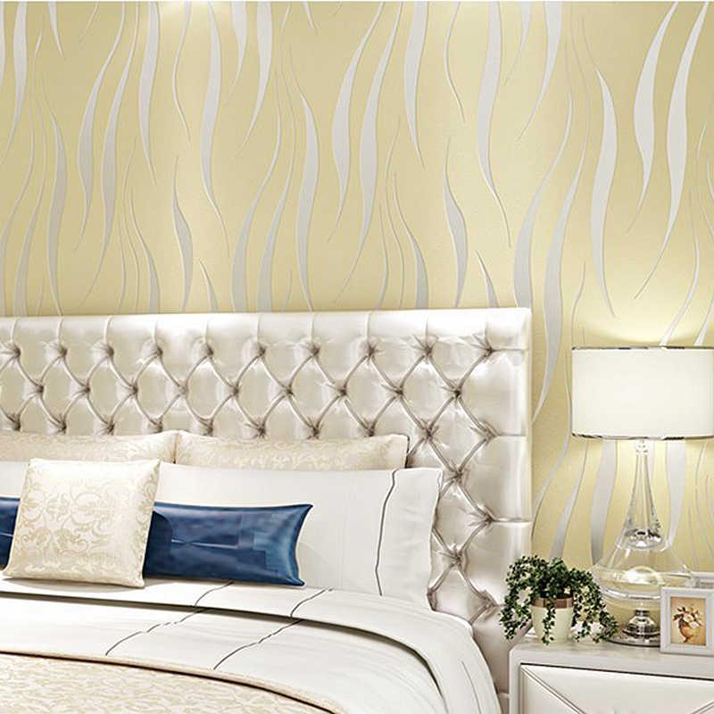 Modern Design Striped Geometric Wallpaper Roll For Bedroom Living Room Home Decor Embossed Wall Paper Cream White Beige