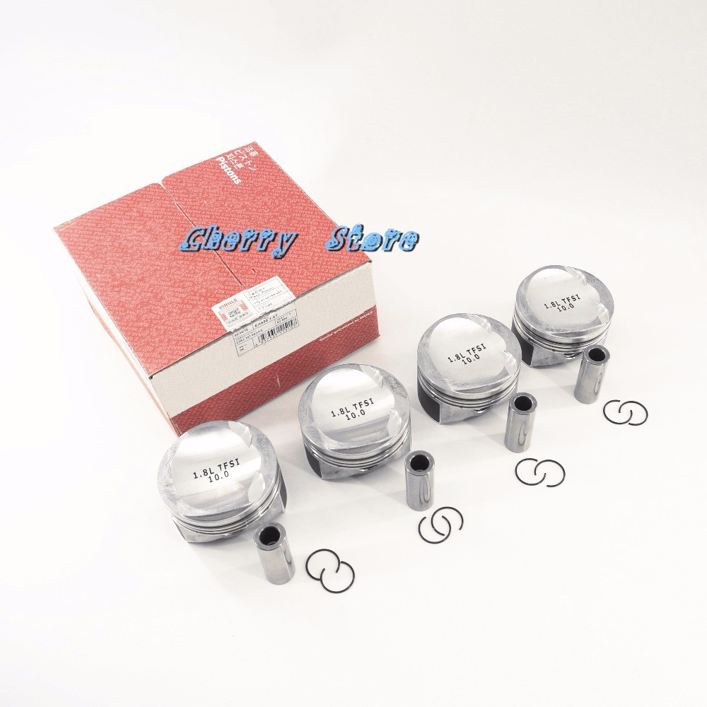 NEW 06H 107 065 BS Engine Pistons 82.5mm Pin 21mm For VW Golf MK6 Passat B6 CC AUDI A3 A4 A5 TT Skoda Octavia Seat Altea 1.8TSI novline nlz 45 11 020 skoda octavia vw golf audi a3 2013 1 2 1 4 1 8 бензин акпп