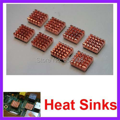 8pcs/lot Pure Copper Heat Sinks For Raspberry Pi 512M B/B+ Version Computer Free Shipping Dropshipping