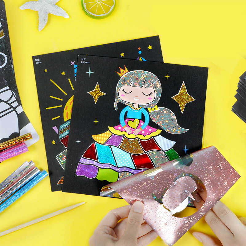 Detail Feedback Questions About Children Magic Color Paper Diy Art