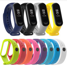 Durable Watch Silicone Wrist Strap for Xiaomi Mi Band 4 Xiomi Miband 3 Brand 4 band4 Bracelet Accessories on My Mi band3 Straps(China)