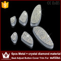 Night Lord 6pcs Metal + crystal diamond material Seat Adjust Button Cover Trim For Mercedes W205 GLC Accessories 2015 2016