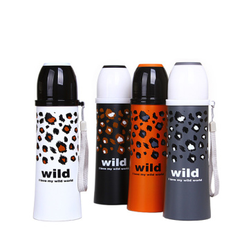 New 380ML cute Leopard Pattern Thermos My personality stainless steel Thermos mug water bottle termos my botlle