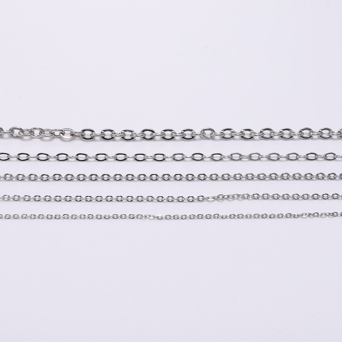 5M/Lot 1.2 1.5 2.0 2.4 3.0mm Stainless Steel Bulk Fine Necklace Chain DIY Jewelry Making Supplies Chains Findings Accessories