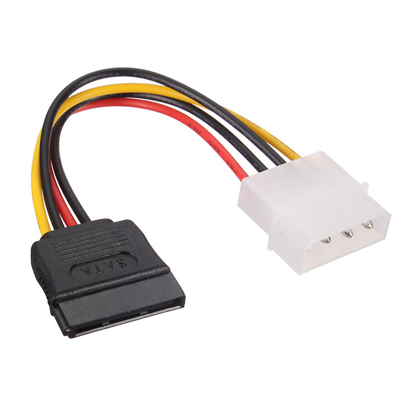 S SKYEE High Quality SATA 15 Pin Female To Molex IDE 4 Pin Male Power Cable Adapter Cable Dual Hard Drive Power Cable