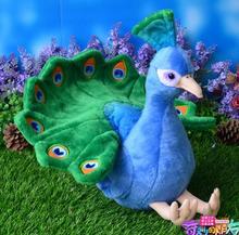 Nette Blaue Pfau Puppe Plüschtiere Weihnachten Geschenke Spielzeug Simulation Tier Dekoration