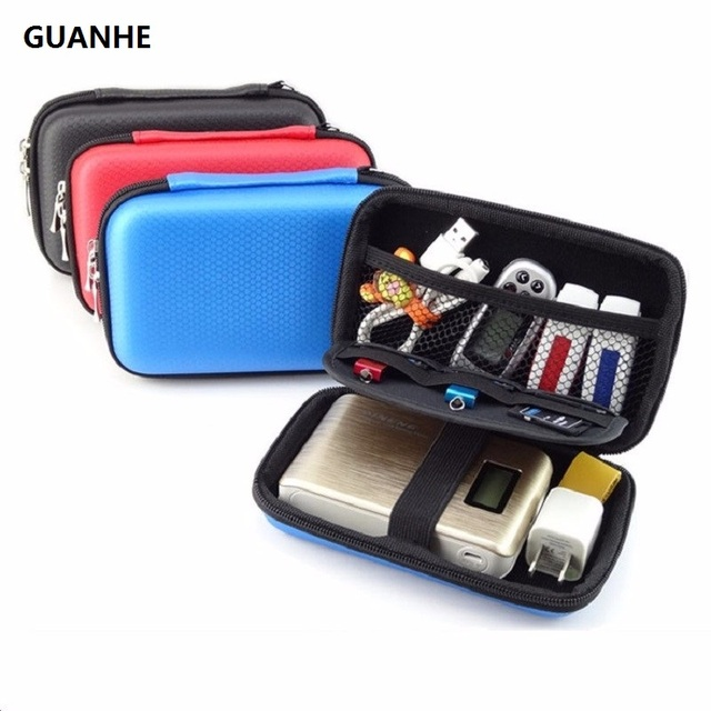 GUANHE 2.5 inch Hard Disk Drive Cable Bag Organizer for Western Digital My Passport Studio Ultra Slim Essential WD Elements