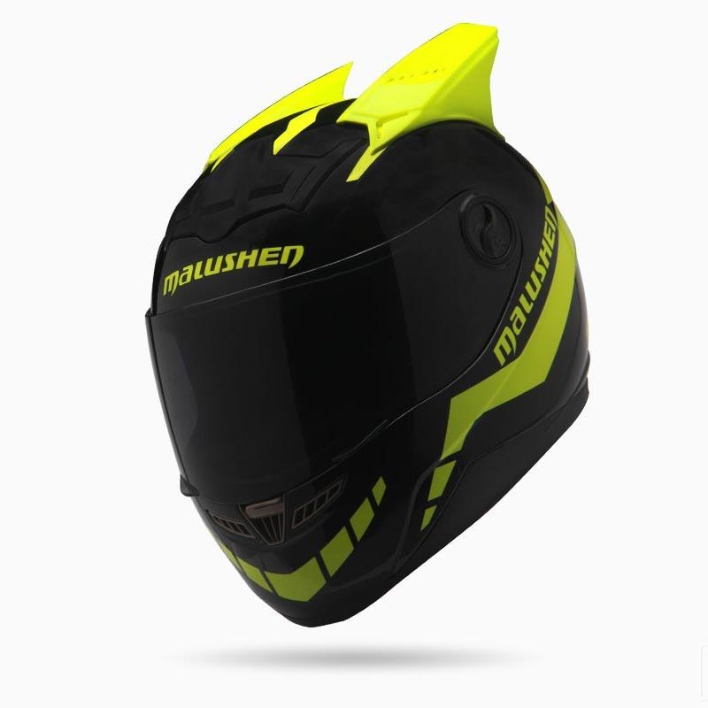 Гоночный шлем анфас мотоцикл шлем внедорожного черный и желтый шлем профессиональный ралли коммуне АСК мото КАСКО