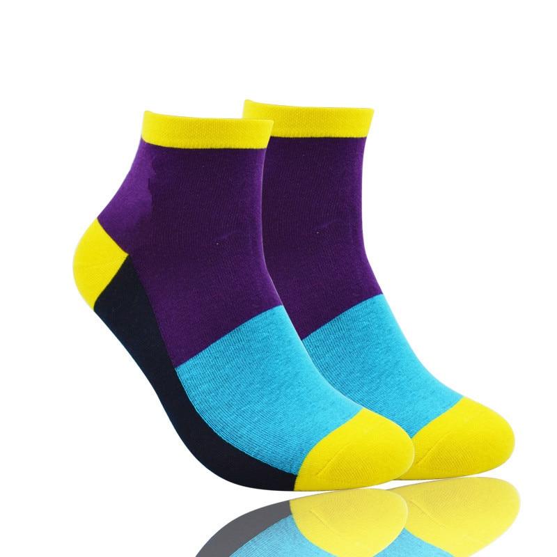 Men Socks For Men 10 Pairs/Pack Spring Summer Autumn Fashion Cotton Colorful Socks Classic Brand Short Men's Socks Mens Sock