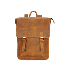 Crazy Horse Genuine Cowhide Leather Men's Backpack Casual School Bag Boy Male Man Shoulder Sling Bag YD01183