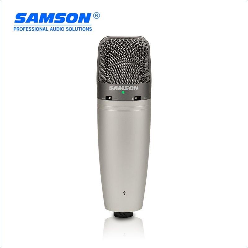 Hot Sale Original Samson C03U Multi Pattern USB Studio Condenser Microphone Large diaphragm recording microphone with USB cable