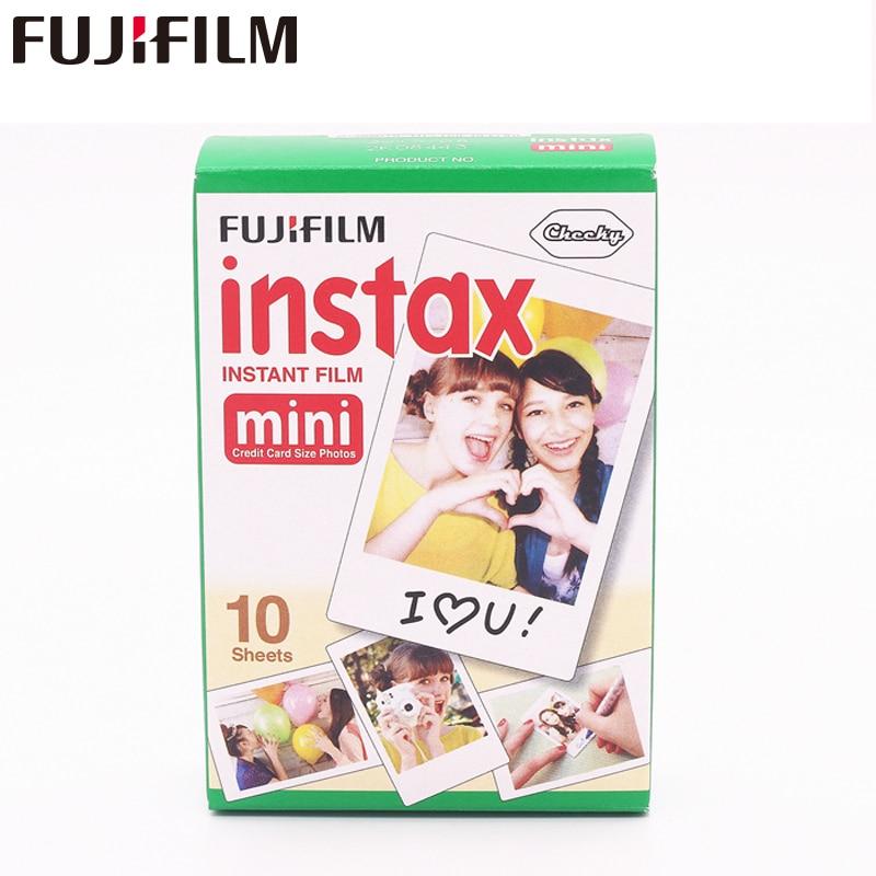 Fujifilm Instax Mini 8 Film Blanc 1 paquets 10 feuilles papier Photo Fuji pour 7 s 8 90 25 55 partager SP-1 appareil Photo instantané