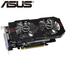 Видеокарта ASUS, оригинал, GTX 750 2 гб 128 бит GDDR5, видеокарты для nVIDIA VGA карты Geforce GTX750 Hdmi Dvi VGA б/у