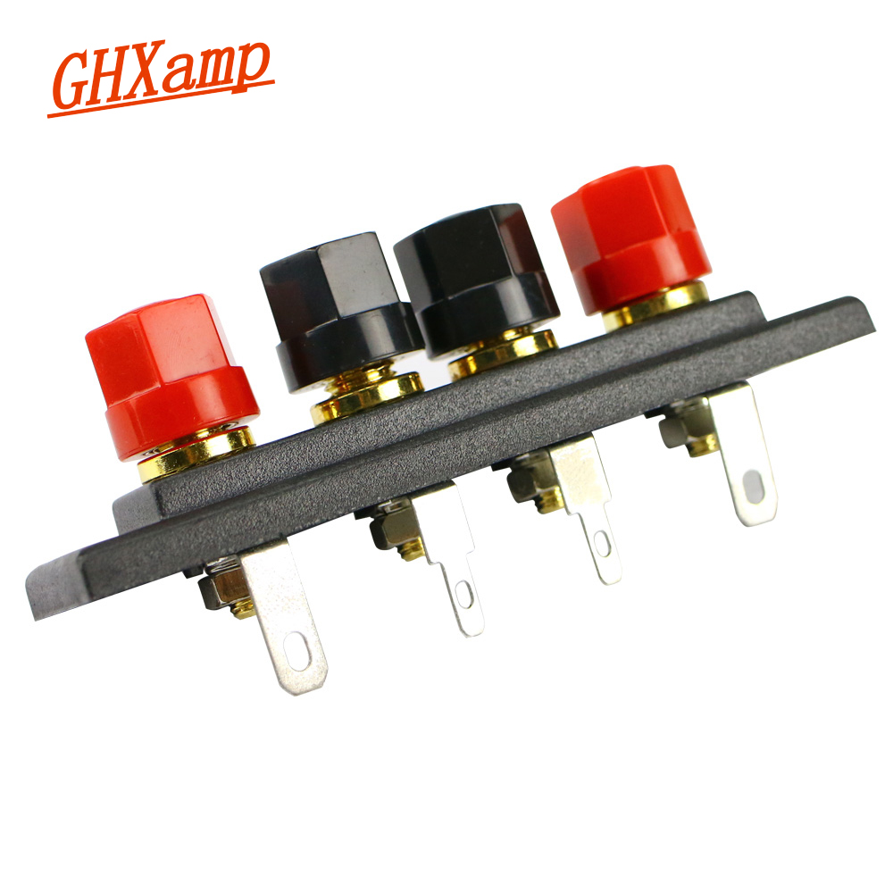 GHXAMP Speaker Amplifier Chassis Terminal Output Four-Position Terminal Soundbox Speaker audio accessories Gold wiring board