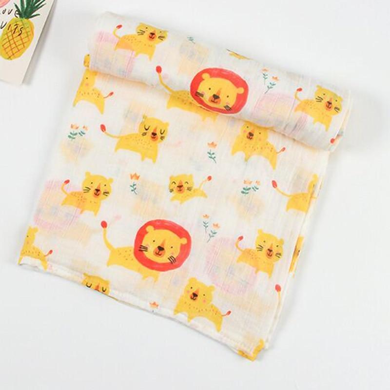 Muslin Tree Newborn Muslin Swaddle Baby Multi use Bamboo Cotton Blanket Infant Newborn Baby Wrap 120X120cm