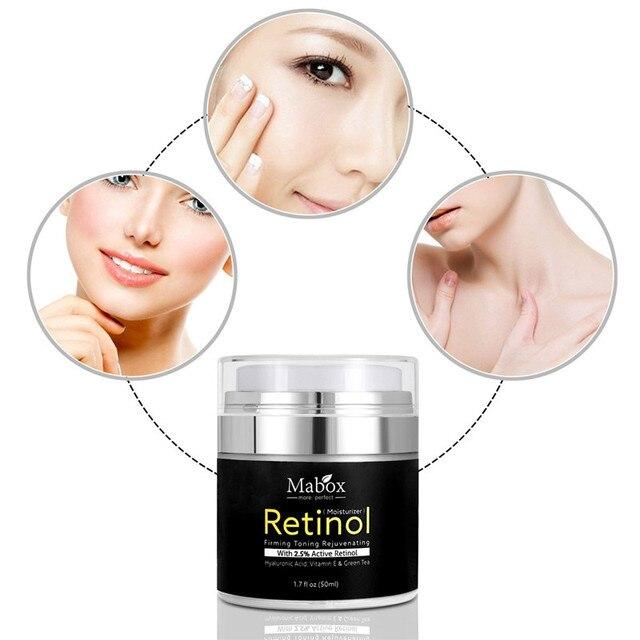 Retinol 2.5% Moisturizer Face Cream Vitamin E Collagen Retin Anti Aging Wrinkles Acne Hyaluronic Acid Green Tea Whitening Cream 1