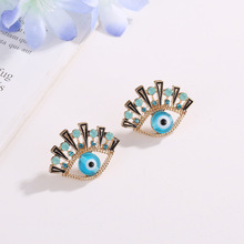 US $1.62 19% OFF|LUBOV Personality Statement Blue Eyes Stud Earrings Unique Gold Color Blue Eyes Piercing Earrings Women Christmas Party Jewelry-in Stud Earrings from Jewelry & Accessories on AliExpress - 11.11_Double 11_Singles' Day