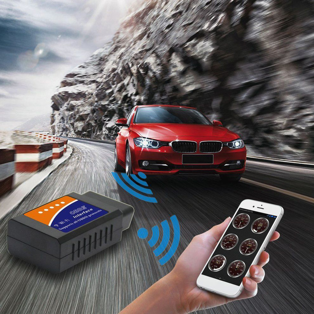 Image 2 - V03HW WIFI OBD2 ECU Computer Interface 16pin OBDII standard Car Fault Detector Phone Car Scanner Tool for Android Windows