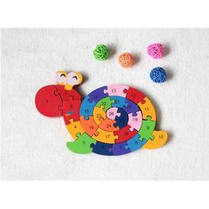 Image 4 - Nuovi Giocattoli Educativi Cervello Gioco Per Bambini di Avvolgimento Lumaca Figura Giocattoli di Legno Per Bambini In Legno 3D Puzzle Di Legno Brinquedo Madeira di Puzzle Per Bambini