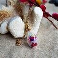 Mixed assorted flor real banhado a ouro de cadeia longa colar choker mulheres boho jóias vintage cool presentes de natal encantos