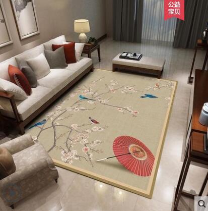 Simple Japanese Tatami Mats Coral Fleece Velvet Bedroom Carpet Thicken Children Kids Playmat Lving Room Crawl Mat Large Area Rug
